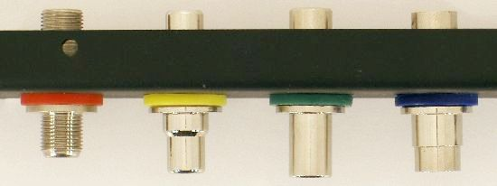 Colored Washers in patch panel - top