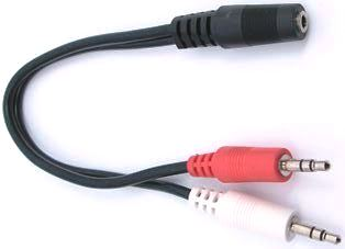 3.5mm TRS Splitter Cable Female to Dual Male
