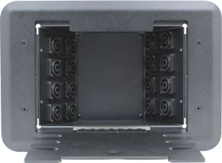 16 Port Female Speakon Floor Box - 4 Pole Solderless Screw Terminals