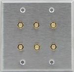 6 Port Double Gang SMA Face Plate